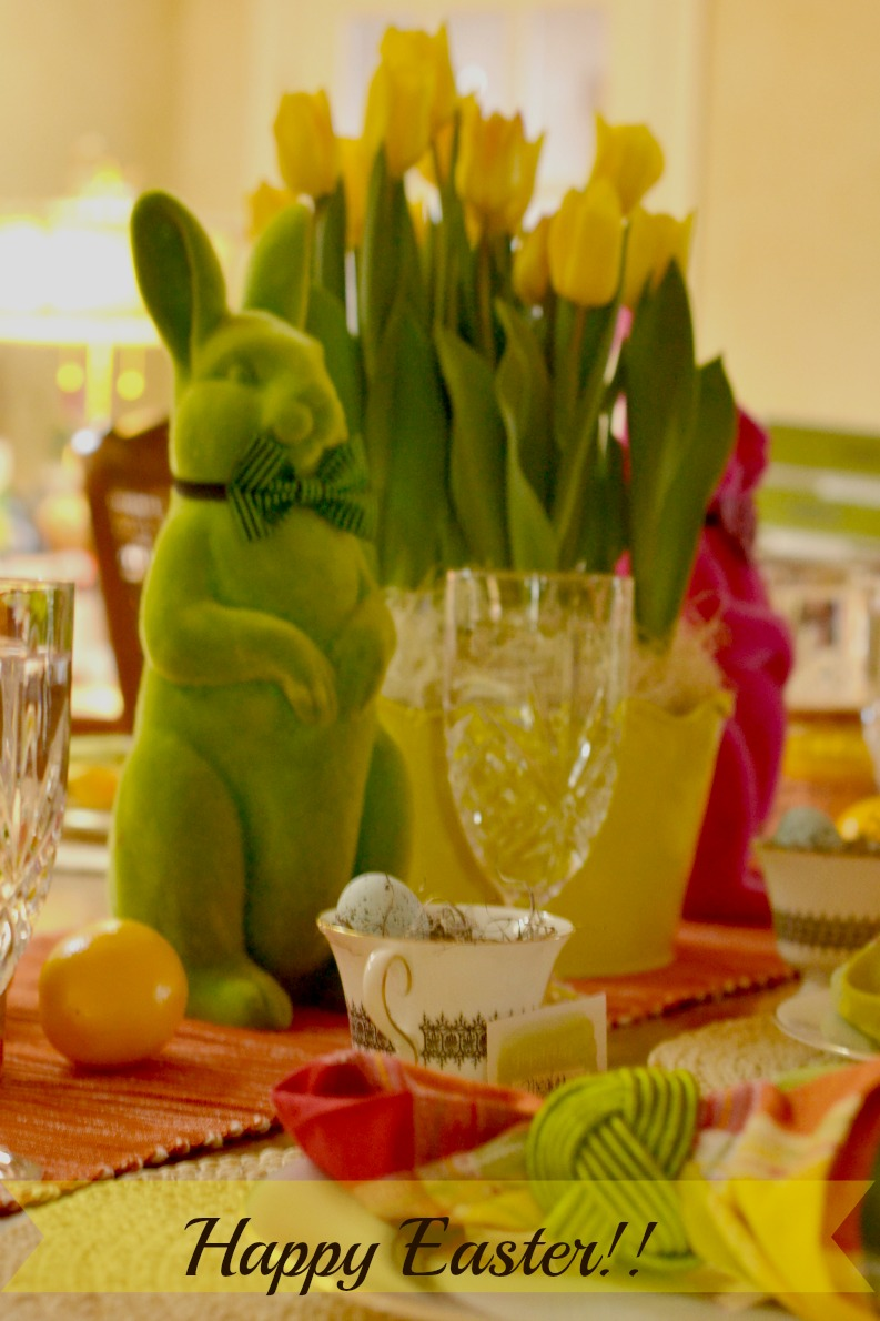 bunnies, tablescape, Easter