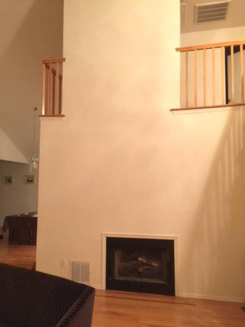 Great NeckNY living room fireplace before home staging